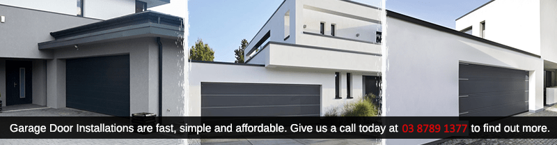 Elegant and quality garage door installation in Melbourne